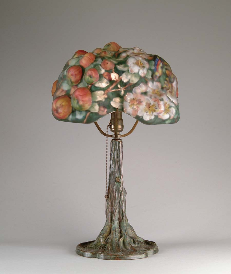 IMPORTANT PAIRPOINT APPLE TREE LAMP. As pictured