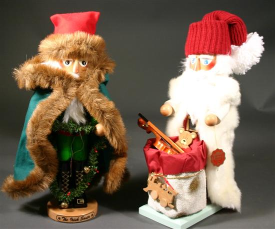 Two Steinbach nutcrackers - White Santa &