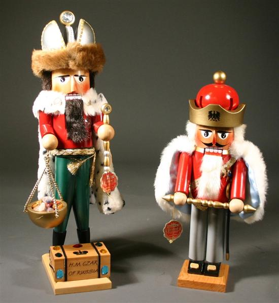 Two German Steinbach nutcrackers of Russian
