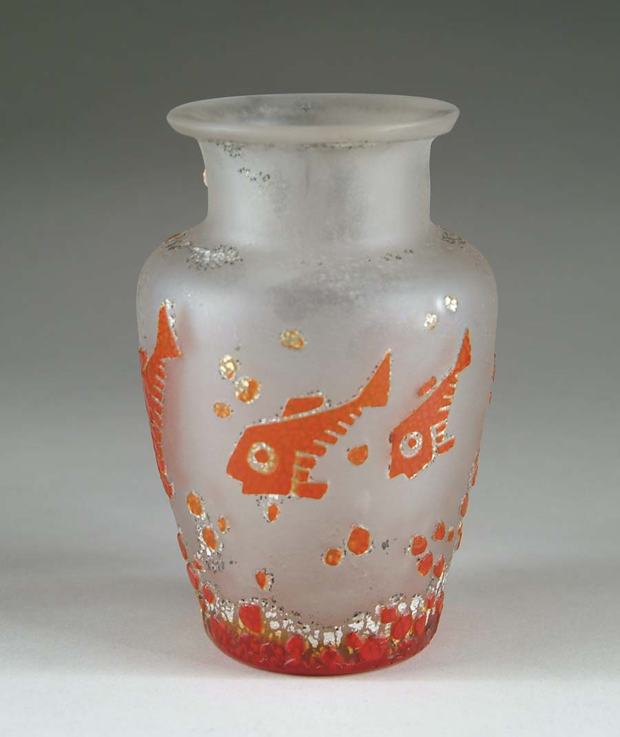 RARE MULLER DECO FISH VASE. Extremely rare