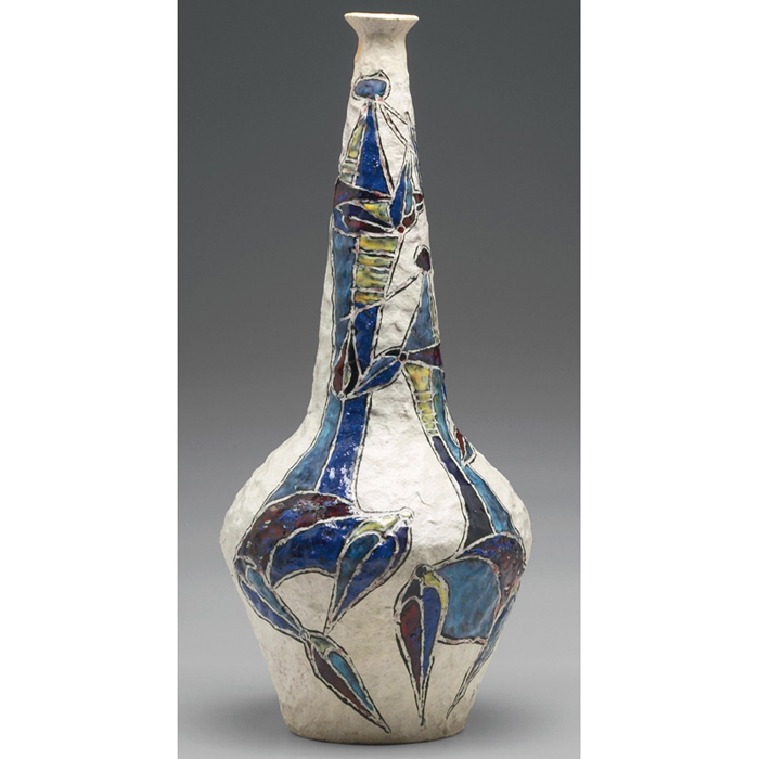 Price Guide For Marcello Fantoni Vase Italy C 1957 Glazed