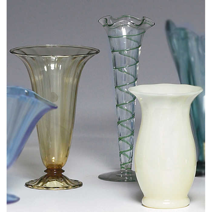 Steuben vase, footed and flaring form in