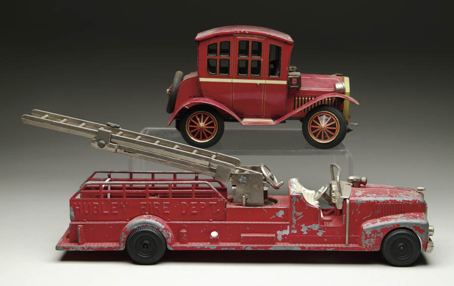 DIECAST HUBLEY FIRE DEPT. TRUCK AND JAPANESE