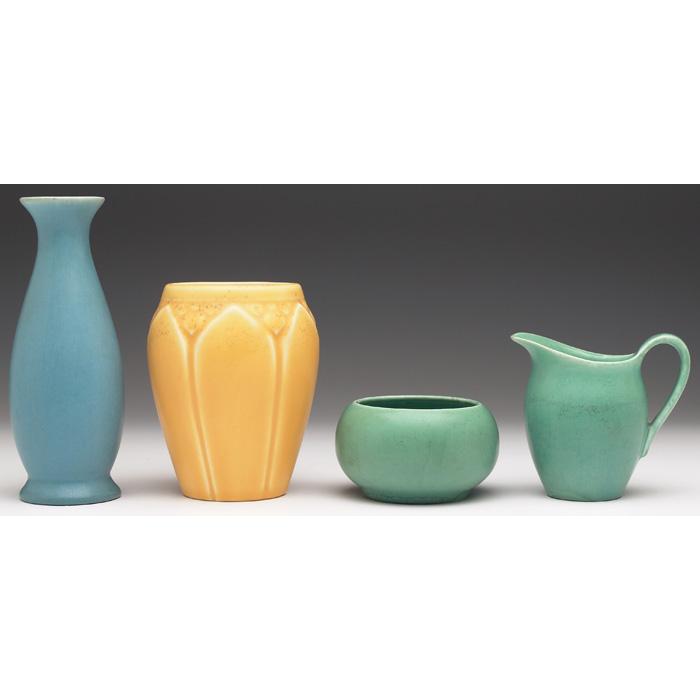 Price Guide For Rookwood Vase Blue Matte Glaze 1956 357f