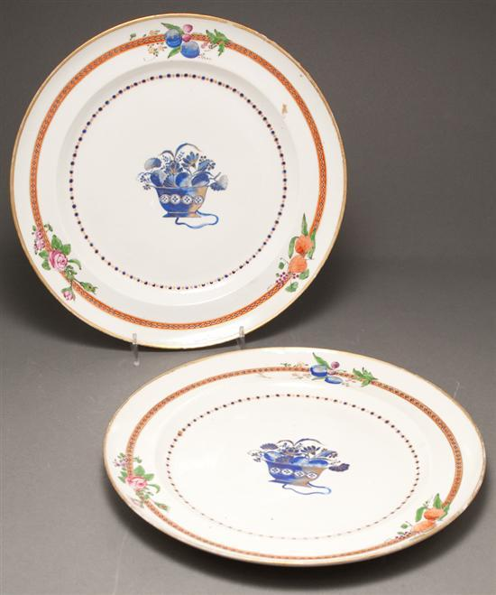 Pair Chinese Export Famille Rose porcelain