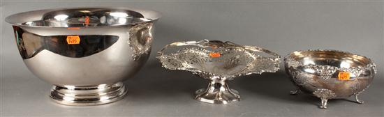 Gorham Revere style silver-plated punch bowl