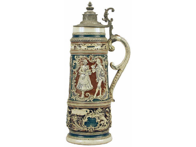 Fantastic 4 litre German beer stein with