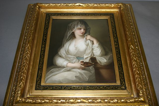 A K.P.M porcelain plaque of the 'Vestal Virgin',