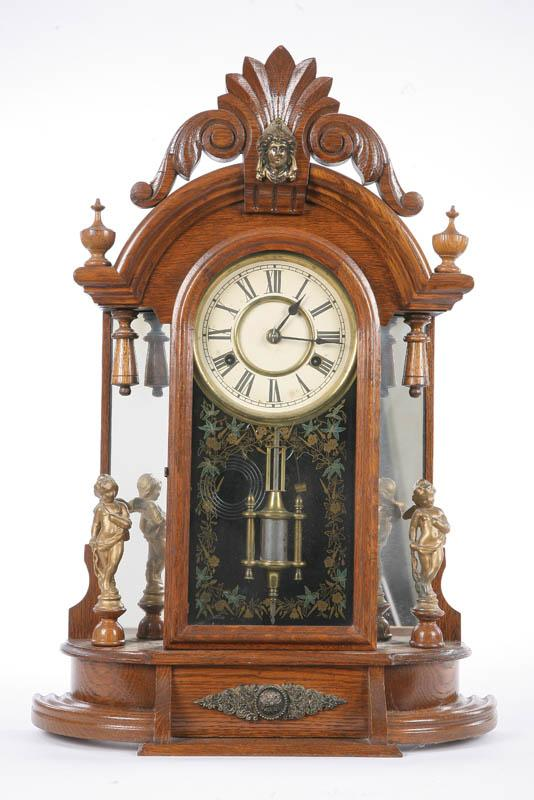 NEW HAVEN MANTLE CLOCK. Eight day, time and