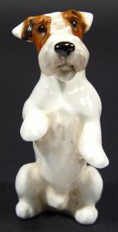 Price Guide For Small Royal Doulton Begging Terrier Dog With