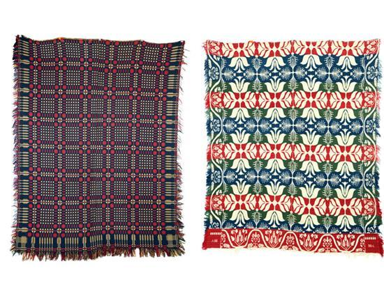 TWO COVERLETS. American, 1st half-19th century,