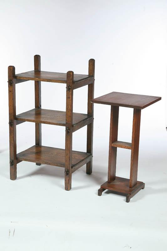 TWO ARTS AND CRAFTS STANDS. American, early