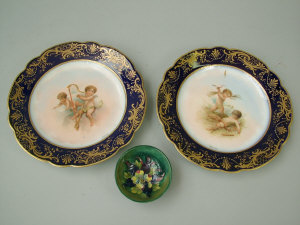 A pair of Vienna cabinet plates, late 19th
