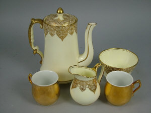A quantity of English part tea services to