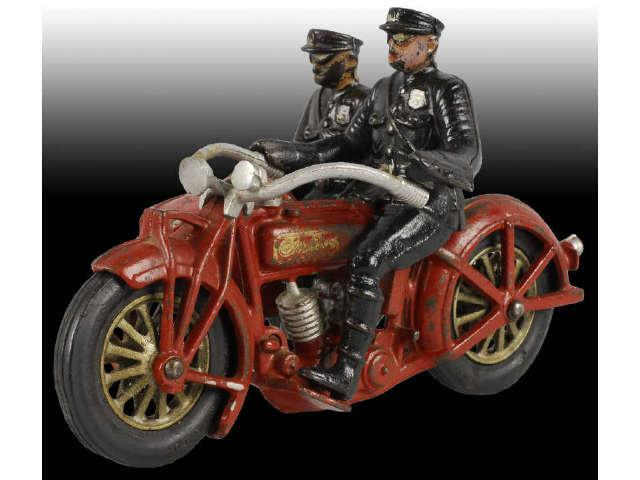 Cast Iron Indian Sidecar Motorcycle Toy CI