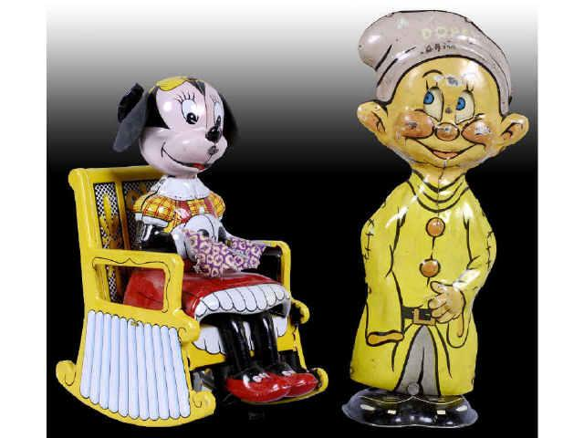Lot of 4: Tin Wind-Up Walt Disney Character