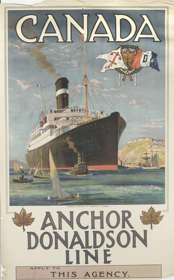 POSTER.-Anchor Donaldson Line: Canada. Color