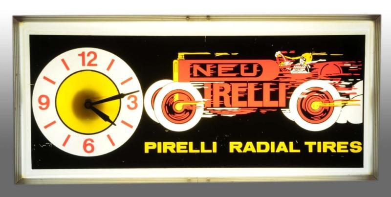 Pirelli Radial Tires Clock Light. Description