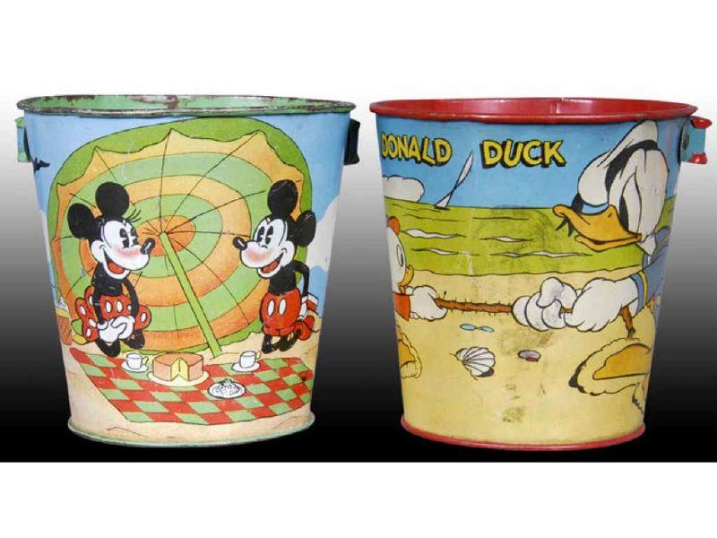 Lot of 2: Walt Disney Tin Ohio Art Character
