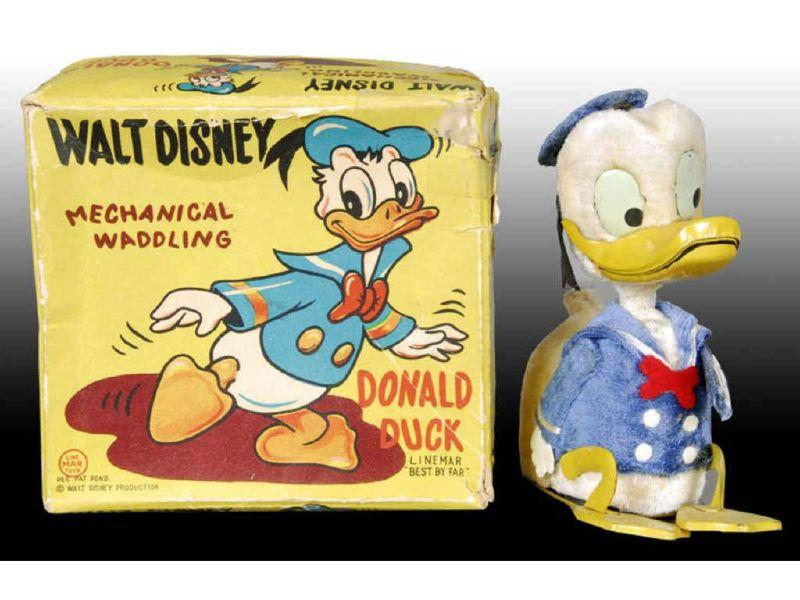 Linemar Walt Disney Wind-Up Waddling Donald