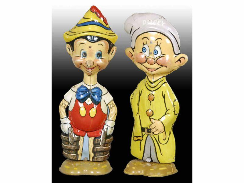 Lot of 2: Marx Tin Wind-Up Character Walker