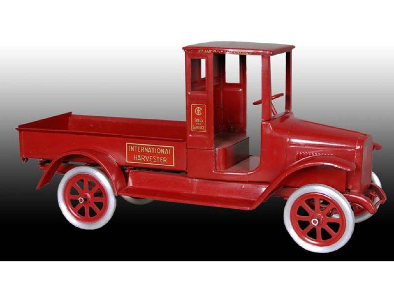 Pressed Steel Buddy L Red Baby Toy Truck.