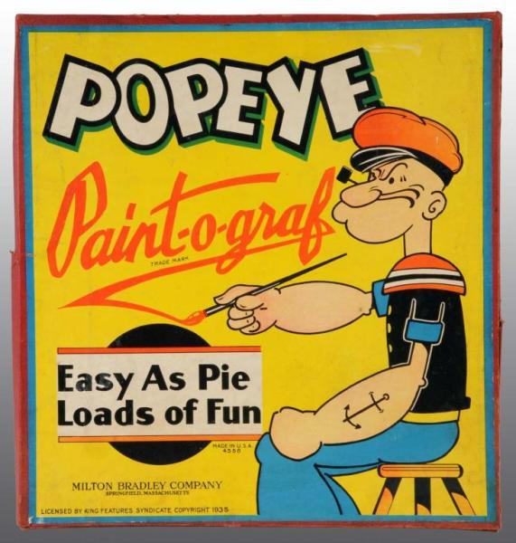 Popeye Paint-O-Graph Toy in Original Box.