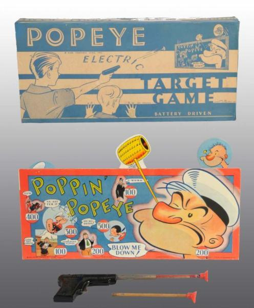 Small Paper Litho Popeye Electric Target