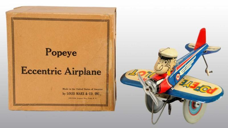 Marx Popeye Eccentric Airplane Toy in Orig