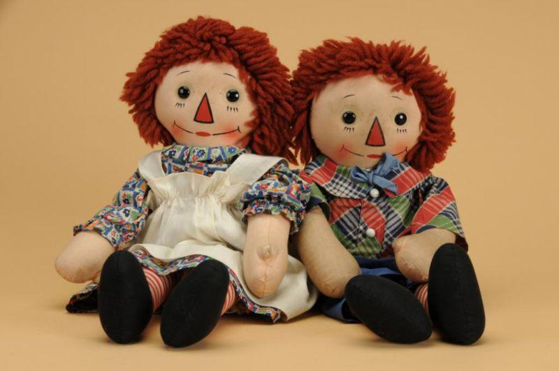Georgene Novelty Co. Raggedy Ann & Andy America,