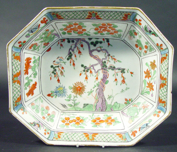 Early 19th century octagonal English china