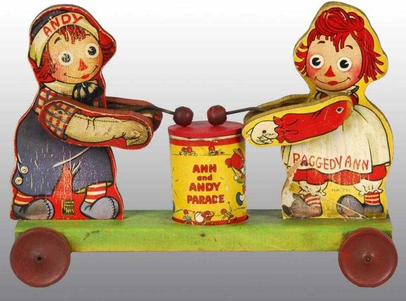 Fisher Price No. 711 Raggedy Ann & Andy Toy.