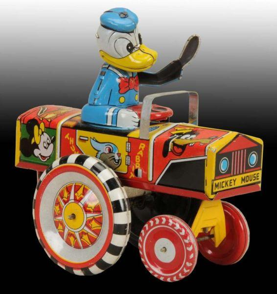 Linemar Disney Donald Duck Dipsy Car Wind-Up