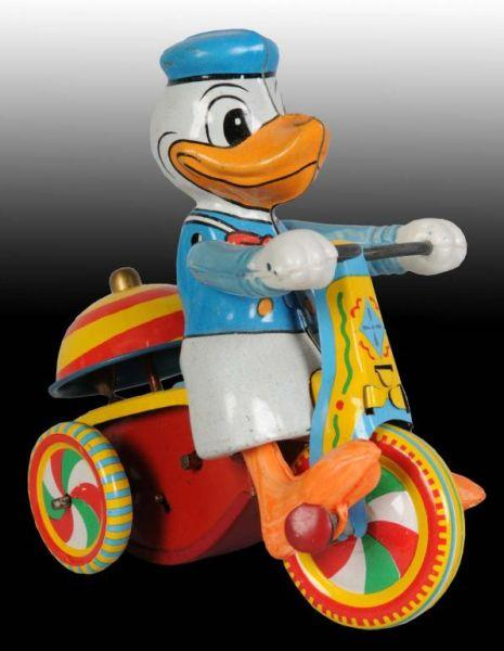 Linemar Disney Donald Duck Tricycle Wind-Up