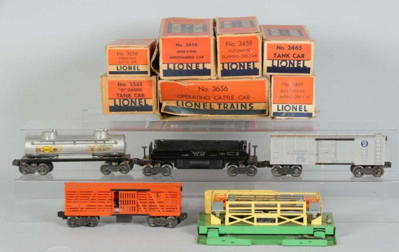 Lot of 7: Lionel Freight Cars in OB Description