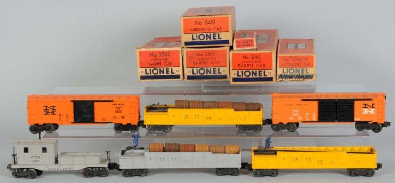 Lot of 6: Lionel Freight Cars. Description