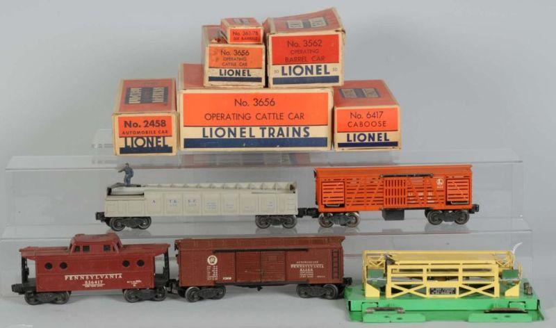 Lot of 4: Lionel Freight Cars in OB Description