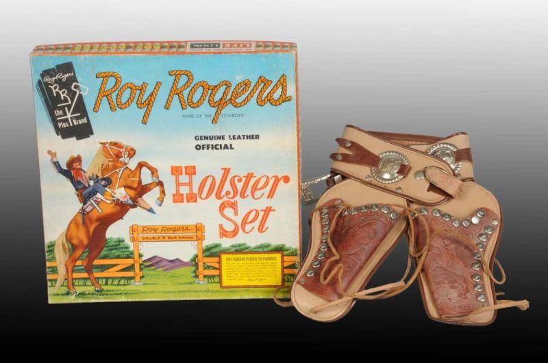 Roy Rogers Toy Holster Set. Description Includes