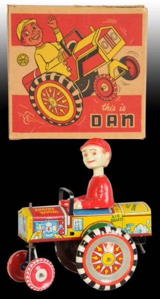 Marx Tin Wind-Up Dan Dipsy Car Toy. Description