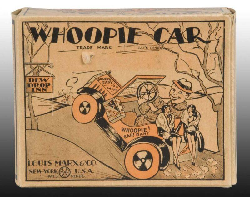 Original Box for Marx Whoopie Car Toy. Box