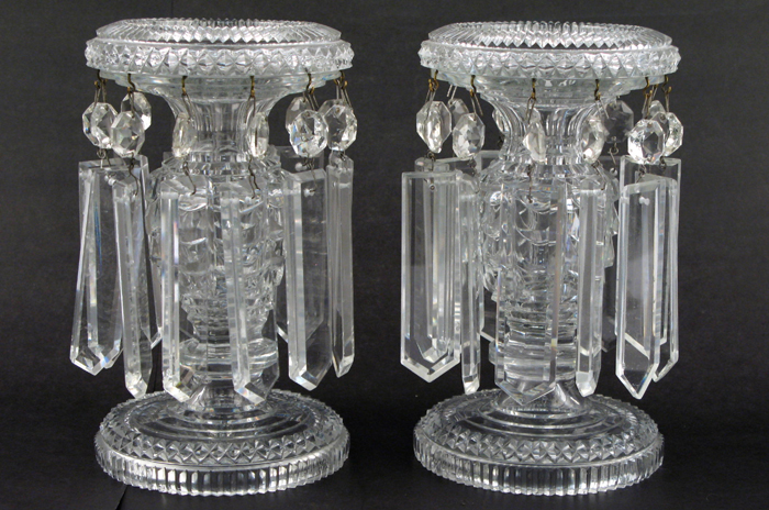 PAIR OF FRENCH BACCARAT CRYSTAL LUSTRES,