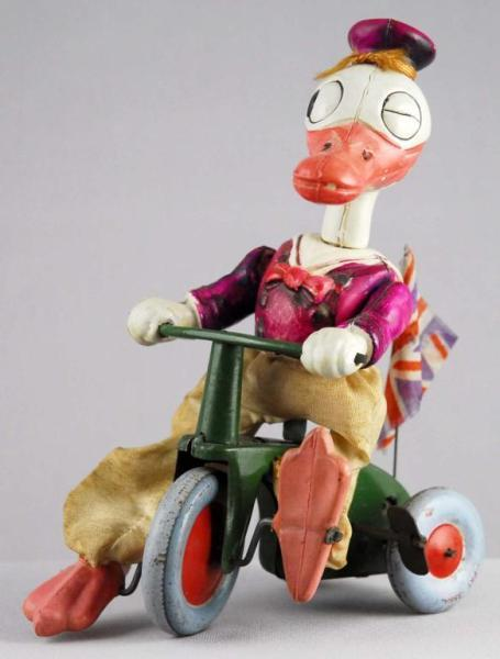 Walt Disney Donald Duck Celluloid/Tin Cycle