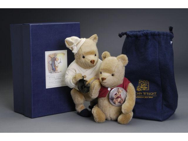 Lot: Two R. John Wright Winnie-The-Poohs