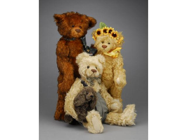 Lot: Three Contemporary Artist Bears Includes