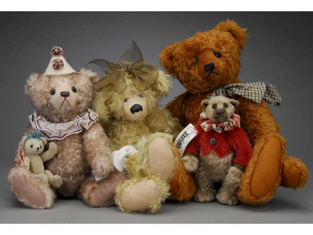 Lot: Four Contemporary Artist Bears Includes
