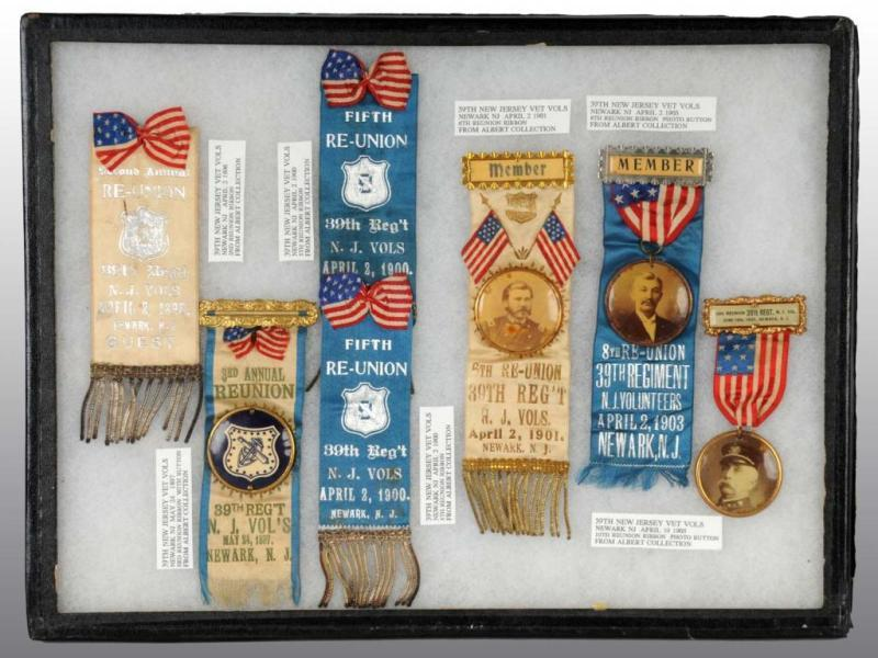 Lot of 6: New Jersey Volunteer Ribbons. Description