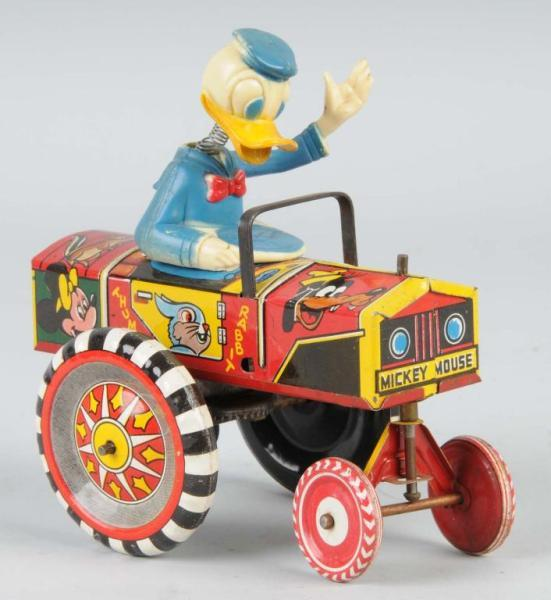 Tin Marx Walt Disney Donald Duck Dipsy Car