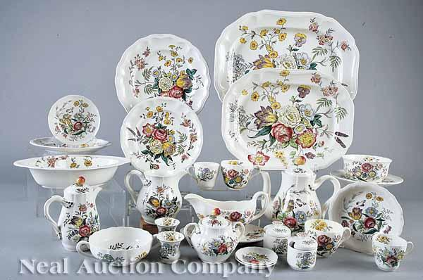 An Extensive Spode Stoneware Dinner Service,