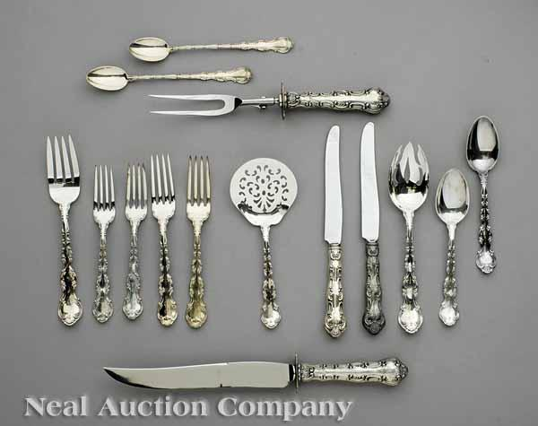 An Extensive Gorham Sterling Silver Flatware