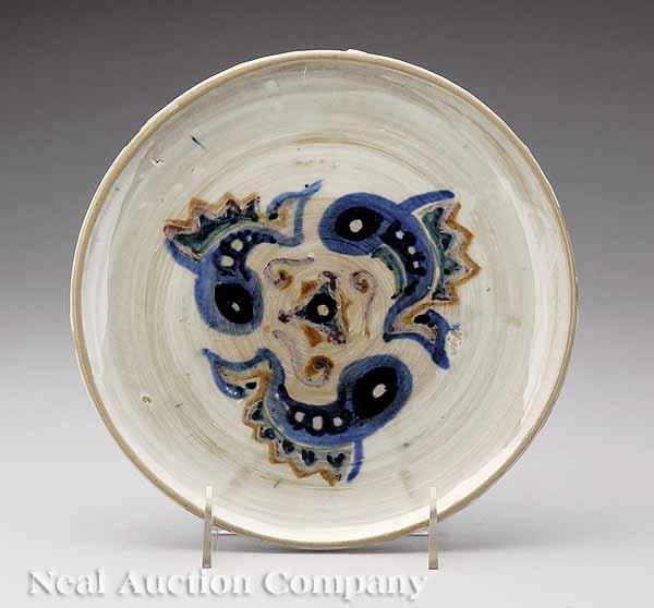 A Shearwater Art Pottery Plate, c. 1950,